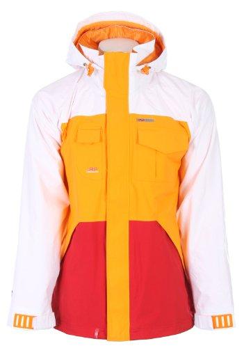 Foursquare Serle Snowboard Jacket White Mens Sz L