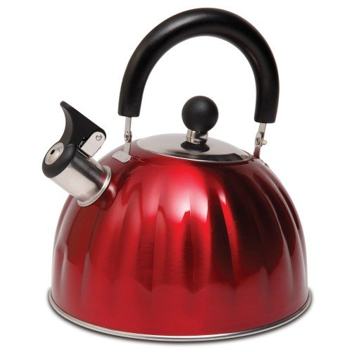 Mr Coffee Twining Pumpkin Shaped Tea Kettle, 2.1 quart, Metallic Red