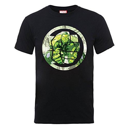Avengers Assemble Hulk Montage Symbol Mens T-shirt Picture