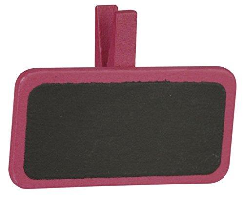 Déco-Sono - 8 mini ardoises sur pince fuschia