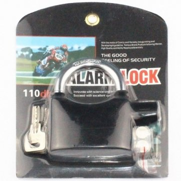 Bheema Alarmed Padlock Home Garage Alarm Security Locks Fk-8809 - Black