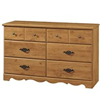 Hot Sale South Shore Furniture, Prairie Collection, 6 Drawer Double Dresser, Country Pine