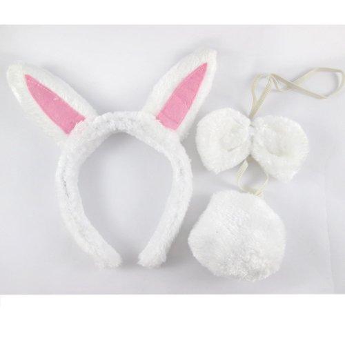 3 Piece Bunny Costume for Kids - Headband - Tail - Bowtie - 1