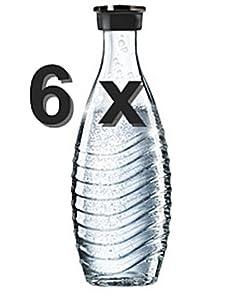 Soda Club Glaskaraffe 3 x 2 = 6 Glaskaraffen Sodastream für Penguin + Crystal + 1 Geschenk    Kritiken und weitere Informationen