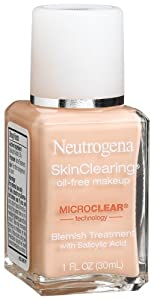 Neutrogena SkinClearing Liquid Makeup, Natural Ivory 20, 1 Ounce