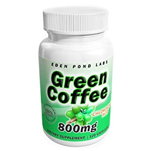 Green Coffee Bean Extract 800mg, Highest Quality, Diet Pills, Natural Weight Loss, Source of Chlorogenic Acid, 800mg Per Serving - Save 60%