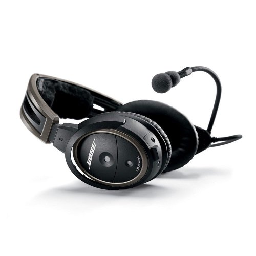Bose® A20 Aviation Headset (Aircraft-Powered W/Bluetooth, Electret Mic, Straight Cord, 6-Pin Plug)