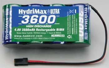 HydriMax 4.8V 3600mAh NiMH Flat Rx U