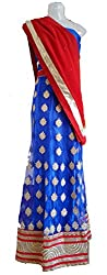 Skhoza semi-stitched lehenga choli with dupatta