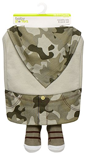 Baby Boy Camoflauge Outfit Dress Up Bib and Sneaker Sock Set by Baby Starters