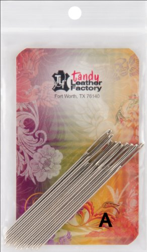 Tandy Leather Factory Stitching Needles, 10-Pack (Waxed Nylon Thread compare prices)