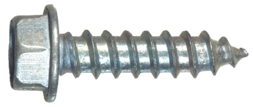The Hillman Group The Hillman Group 1023 Zinc Hex Washer Head Slotted Sheet Metal Screw 6 X 3/8 In. 60-Pack front-471801