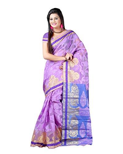 Sai Krupa Silk Women's Silk Brocade Sarees(Purple