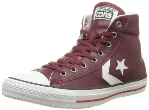 CONVERSE Unisex-Adult Star Player Ev Leather Mid Trainers 060590-610-18 Bordeaux 7.5 UK, 41 EU
