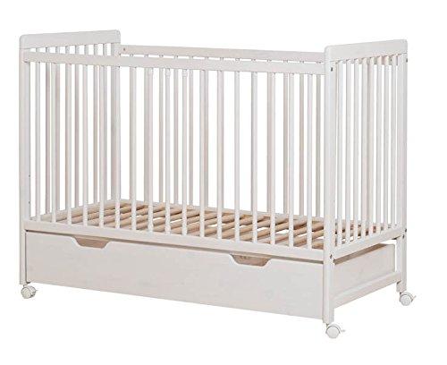 Babyzimmer Bettchen Babybett mit Bettkasten Bett für Babys NEO weiß