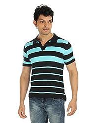 Silver Spring Black Super Combed Cotton T Shirt _ RVD020_L