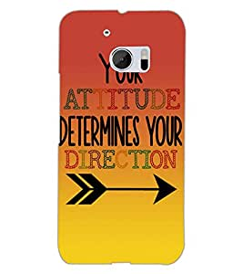 HTC ONE M10 ATTITUDE Back Cover by PRINTSWAG