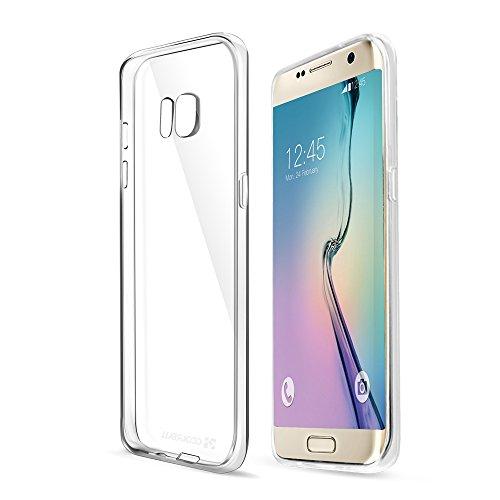Coolreall Coque de protection Samsung Galaxy S7 edge Housse Etui TPU Clair Transparente Sans Encombrement Ultra Douce Coque avec un design unique gran...