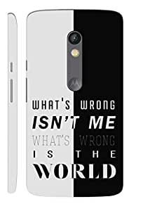 Aatank Premium Printed Mobile Case Back Cover for Motorola Moto X Play