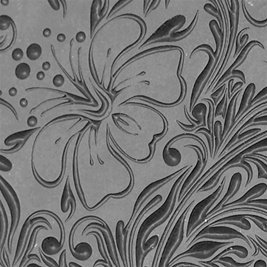"Cool Tools - Flexible Texture Tile - Hibiscus Embossed - 4"" X 2"""