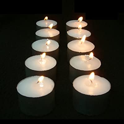 50-pack Glo-wax Long-burning Tea Lights 10 Hour Burn Per Candle from Sourcing4U Limited
