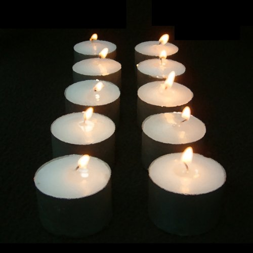 50-Pack GLO-WAX Long-Burning Tea Lights (10 HOUR BURN Per Candle)