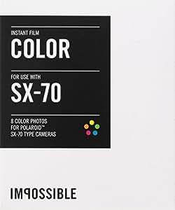 Impossible - 2783 - pellicule couleur pour Appareil Polaroid type SX70 - cadre blanc - 8 feuilles par boîte
