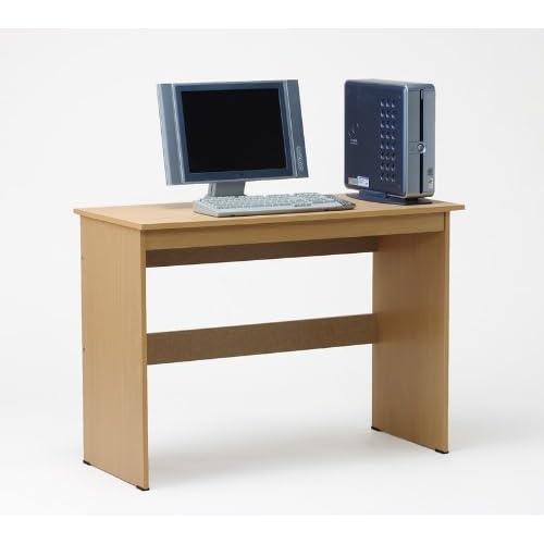 1メーター幅ワイド シンプルウッドデスク ナチュラル パソコンデスク ワークデスク