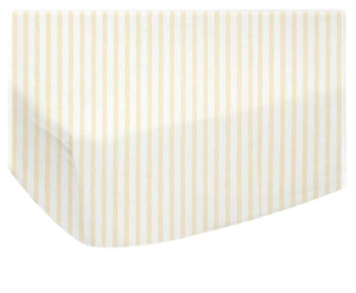 Sheetworld Fitted Oval (Stokke Mini) - Yellow Stripes Jersey Knit - Made In Usa