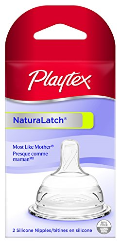 Playtex NaturaLatchNipple, Slow Flow, 2-Count (Baby Bottle Slow Flow compare prices)