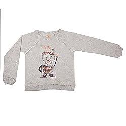 NeedyBee Kids Friend Grey Organic Cotton Sweat T-Shirt for 2 - 9 Years Baby Boys and Baby Girls