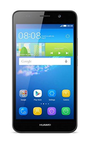 Huawei Y6 (2GB) Smartphone Dual SIM, Display 5 Pollici, 2 GB RAM, 8 GB Memoria, Android 5.1, Nero