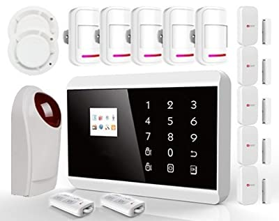 Wireless Touch Keypad TFT Color Display Gsm+pstn Home Security System Alarm Kits Siren for Smart Android App Kr-8218g