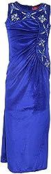 Sheetal Fashion Girls' Lycra & Suede Dress (SF-47_4-5 Years, Blue)