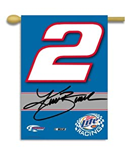 NASCAR Kurt Busch #2 2-Sided 28-by-40-Inch Banner with Pole Sleeve by BSI