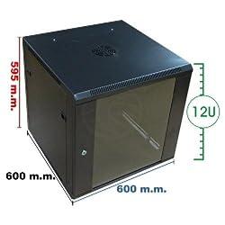 Cablematic - Armario rack de 19 mural RackMatic Low Cost de 12U y fondo 600