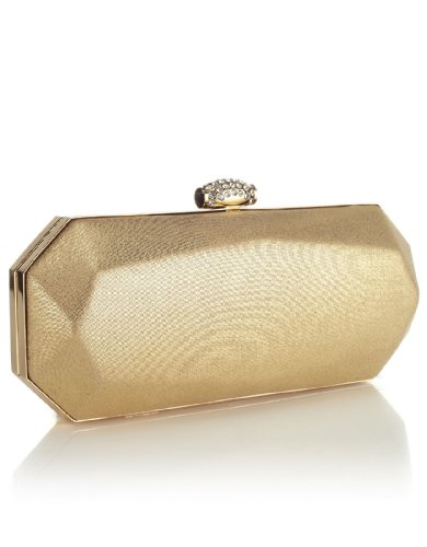 Monsoon Womens South Beach Clutch Size 00 Gold
