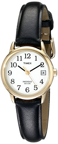 Timex Women's T2H341 Easy Reader Black Leather