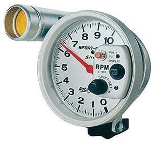 Amazon     Auto Meter    3911    Sport      Comp    Silver ShiftLite    Tachometer     Automotive