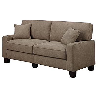 "Serta RTA Palisades Collection 60"" Loveseat in Flagstone Beige, CR43529PB"