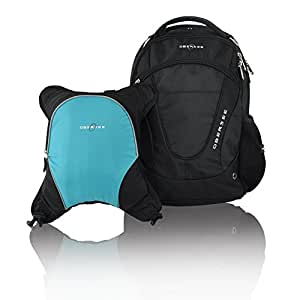 buy obersee oslo diaper bag backpack with detachable cooler black turquoise online at low. Black Bedroom Furniture Sets. Home Design Ideas