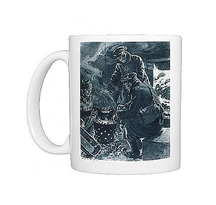 Photo Mug Of Xmas Pudding In Trenches From Mary Evans