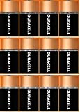 Duracell Coppertop 12 C Alkaline Batteries Pack MN1400 Duralock, Made in USA