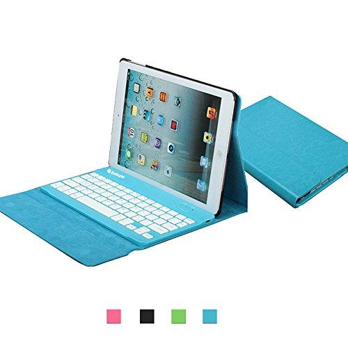 (ジャックゴールド)JackGold アップルのiPadのAir New耐衝撃プレミアムPUは、AppleのiPadエアJPYのためにBluetoothキーボードカバー分離型ケーススタンド