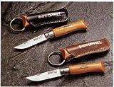 OPINEL(オピネル) ステンレスナイフNO.4黒革ケース付(台紙なし) M-9169
