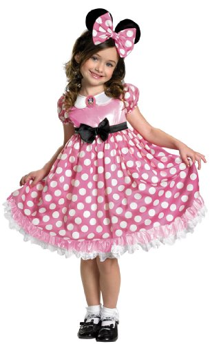 Pink Minnie Mouse Glow in the Dark Toddler Costume