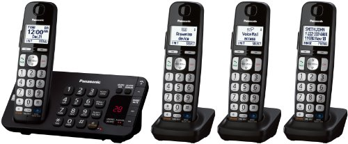 Panasonic KX-TGE244B dect_6.0 4-Handset Landline Telephone