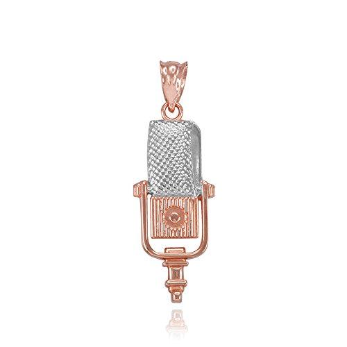 recording-microphone-music-studio-pendant-10k-two-tone-rose-gold