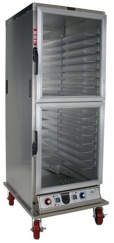 Lockwood CA72-PF-CDD-R Aluminum Full Height Non-Insulated Mobile Proofing and Holding Cabinet with Universal Tray Supports and Clear Dutch Door, 35 Pan Capacity, 28-1/2