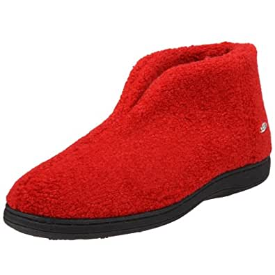 ACORN Women's Cozy Slipper,Deep Red,Large 8-9 M US
